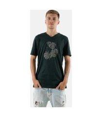 camisa t-shirt gola v rioutlet verde 235