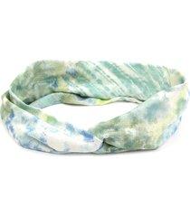 headband bijoulux turbante em tons de verde