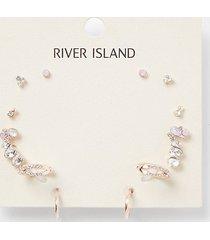 river island womens rose gold colour ear cuff 5 pack