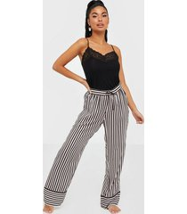 hunkemöller pant woven stripe piping pyjamas & mysplagg