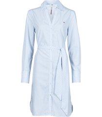 korte jurk tommy hilfiger monica knee shirt dress ls