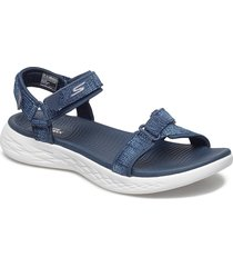 womens on-the-go 600 shoes summer shoes flat sandals blå skechers