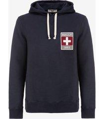 mens pullover hoodie sweatshirt blue xs