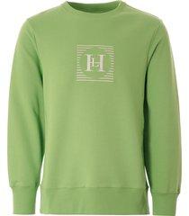 henri lloyd x nigel cabourn tech sweatshirt - emerald - 20114-715