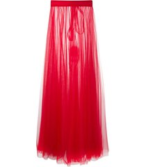 loulou sheer tulle skirt - red