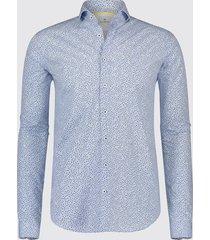 blue industry overhemd licht print 1091.91 blauw