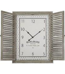 zegar z okiennicami drewniany