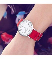 zegarek - kanji - czerwony, nylonowy