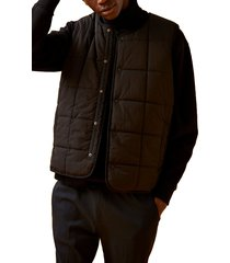 men's topman quilted vest, size small - black