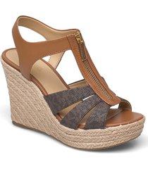 berkley wedge sandalette med klack espadrilles grå michael kors