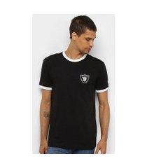 camiseta nfl oakland raiders 90s continues rib new era masculina