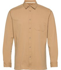 aklenny twill skjorta casual beige anerkjendt
