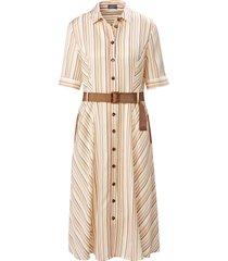 jurk in overhemdmodel korte mouwen van basler wit