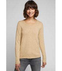 sweater mujer liso beige esprit