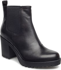 grace shoes boots ankle boots ankle boot - heel svart vagabond