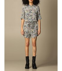 zadig & voltaire dress zadig & voltaire short romper with floral pattern