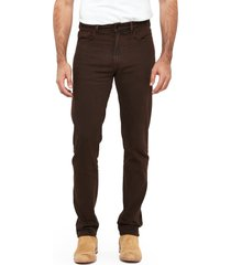 men's trinidad3 brine athletic fit taper jeans, size 35 x 33 - brown