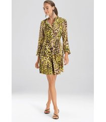 natori ombre animale, silky soft dress, women's, green, size 10 natori