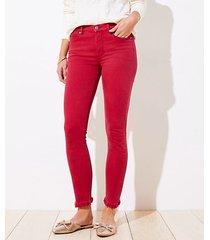 loft curvy frayed high rise skinny crop jeans