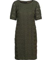 dress short 1/2 sleeve knälång klänning grön betty barclay