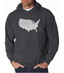 la pop art men's word art hooded sweatshirt - the star spangled banner