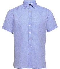 8823 - iver c st trim kortärmad skjorta blå sand