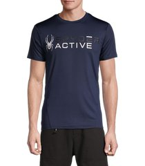 spyder men's logo t-shirt - navy - size l
