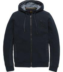 pme legend pme zip jacket structure sweater psw202411 blauw