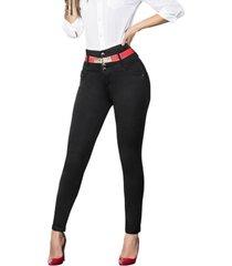 jeans colombiano control de abdomen c negro bartolomeo