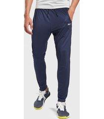 pantalón de buzo reebok wor knit pant azul - calce regular
