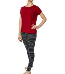 tommy hilfiger fair isle print leggings set * gratis verzending *