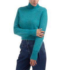 alberta ferretti necklace roll neck jumper