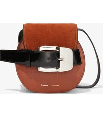 proenza schouler buckle mini crossbody bag chocolate/brown one size