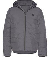 hooded jacket fodrad jacka grå fred perry