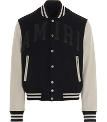 amiri vintage applique amiri varsity jacket