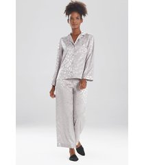 natori decadence pajamas / sleepwear / loungewear set, women's, silver, size m natori