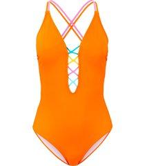 costume intero sostenibile (arancione) - rainbow