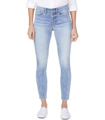 women's nydj ami exposed button stretch ankle jeans, size 18 - blue