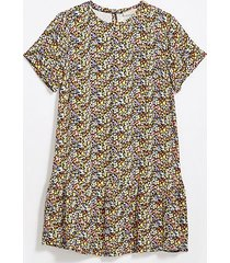 loft floral flounce swing dress