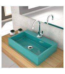 cuba de apoio p/banheiro compace florenza q550w azul turquesa