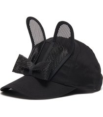 bow bunny ears cotton cap