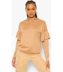 sweater met ruches, camel