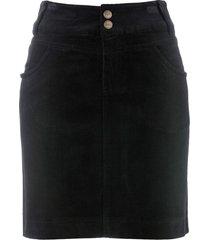 gonna elasticizzata in velluto (nero) - bpc bonprix collection