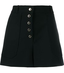 stella mccartney work wear mini shorts - black