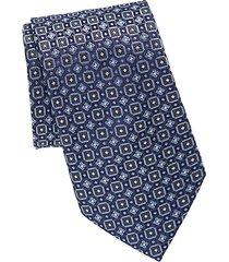 repeat circle silk tie