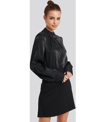 na-kd party high waist a-line skirt - black