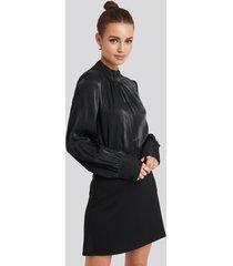 na-kd party high waist a-line skirt - black