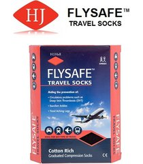 hj hall flysafe travel socks - unisex- 3/6 and 6/9 - black, navy, grey, ecru