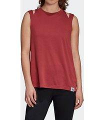 camiseta regata adidas brilliant basic vermelha feminina