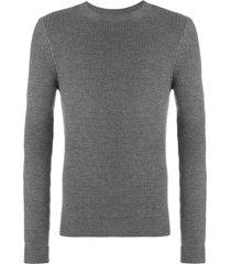 al duca d'aosta 1902 rib knit fitted sweater - grey